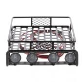 Bagażnik dachowy z lekkim barem dla 1/10 RC Crawler Axial SCX10 D90 110 Traxxas TRX-4 Tamiya HSP RC części samochodowe