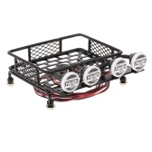 Roof Rack Luggage Carrier with Light Bar for 1/10 RC Crawler Axial SCX10 D90 110 Traxxas TRX-4 Tamiya HSP RC Car Parts