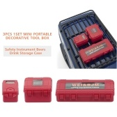 1/10 RC Car Safety Equipment Case 3pcs Decorative Tool Box Screws Gadgets Storage Case for Traxxas HSP Redcat Rc4wd Tamiya Axial RC Truck
