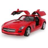 Original RASTAR 47600 27MHz 1/14 Mercedes-Benz SLS AMG RC Super Sports Car Simulation Model with Retractable Door