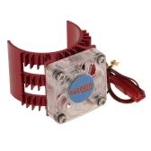 SUPERPASS HOBBY Motor Disipador de calor con ventilador de refrigeración para 1/10 HSP HPI Wltoys Kyosho TRAXXAS 36 mm Cepillado de motor sin escobillas