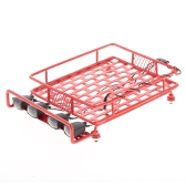 Roof Rack Luggage Carrier with Light Bar for 1/10 Monster Truck RC Car Crawler Axial SCX10 90046 D90 TRX-4