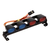 AX-505W Lampada a LED ultraluminosa multifunzione per 1/10 1/8 RC HSP Traxxas TAMIYA CC01 4WD Axial SCX10 Modello di auto