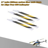 2 * Pary Carbon Fiber 325mm Main Blades dla Align Trex 450 Electric Helicopter