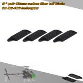 2 * Paare Kohlefaser-62mm Tail Blades ausrichten Trex 450 RC Hubschrauber