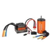 Second Hand GoolRC Upgrade Waterproof 3660 3800KV Brushless Motor with 60A ESC Combo Set for 1/10 RC Car Truck