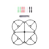 100% Original Hubsan H107C H107L Part Upgrade Protection Cover Black & 8Pcs Multicolor Propeller & U Wrench for Hubsan H107C H107L Wltoys V252 JD385 Mini Qudcopter Part (Hubsan H107C H107L Protection Cover Propeller,Wltoys V252 Protection Cover Propeller,JD385 Protection Cover Propeller)