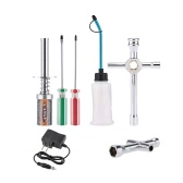 Nitro Starter Glow Plug Igniter Charger Tools Fuel Bottle Combo for Redcat HSP Nitro Powered 1/8 1/10 RC Car