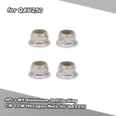4Pcs M5 Aluminum Self-locking CW CCW Hexagon Nuts for QAV250 210 FPV Racing Quadcopter Drone