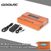 Original GoolRC B6 Mini Multifunktions-Balance Charger / Disch mit AC / DC-Adapter für LiPo Li-ion LiFe NiCd NiMH Pb RC Batterie