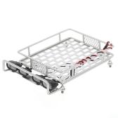 Portaequipajes de techo con barra de luces para 1/10 Monster Truck RC Crawler de coche Axial SCX10 90046 D90 TRX-4