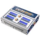 EV-PEAK CQ3 100W 10A 1-6S AC100-240V DC11.0V-18.0V Balance Charger with JST_XH Adapter Board for LiPo LiFe NiMH NiCd Pb Battery