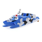HENG TAI HT-3832 1/275 2.4GHz Radio Control Missile Boat Electric Speedboat Destroyer Military Model Toy Children Gift