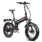 FAFREES F7 Складной электрический велосипед с усилителем мощности, мопед, E велосипед с 20x4,0 дюймовыми толстыми шинами, 750W13.6AH, аккумулятор