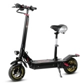 BEZIOR S1 10 Inch Two Wheel Folding Electric Scooter with Saddle Seat