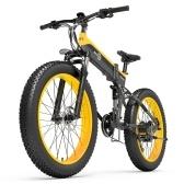 BEZIOR X1000 1000W 26 Inch Folding Power Assist Electric Bicycle Moped E-Bike 12.8AH Battery 100km Range