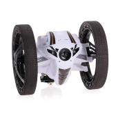 2.4GHz Remote Control Bounce Car 360° Rotation 3 LED Lights Jumping Car with Music Two-Wheel Robot