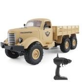JJR / C Q60 1/16 2.4G 6WD RCオフロードクローラー軍用トラック陸上車子供用おもちゃ男の子用RTR