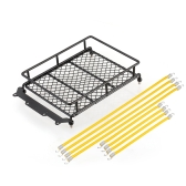 Roof Luggage Rack and Elastic Roof Rack Rope Cord for 1/10 1/8 RC Rock Crawler Truck Axial SCX10 TAMIYA CC01 RC4WD D90 D110 Car