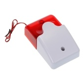 Mini Wired Strobe Siren Sound Alarm Strobe Flashing Red Light