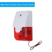 Mini Wired Strobe Siren Sound Alarm Strobe Flashing Red Light