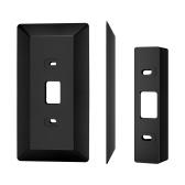 Placa de pared Viene con cuña L35 ° / R35 ° Compatible con timbre de video Eufy Resolución 2K (con cable), Timbre de video Eufy HD Resolución de grado 1080p Ajuste de material plástico Kit de cuña de placa de pared de montaje, negro