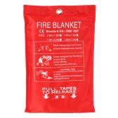 Fiberglass Fire Blanket Fire Flame Retardant Emergency Survival Fire Shelter Safety Cover 39.3*39.3 Inches