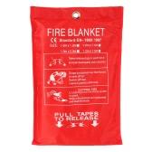 Fiberglass incêndio cobertor anti-fogo retardador de chamas de emergência Survival Fogo do abrigo tampa de segurança 39.3 * 39.3 polegadas