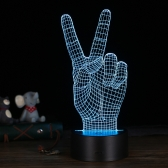 3D LED Desk Lamp Illusion Colorful Table Night Light