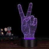 Lâmpada de mesa LED 3D Ilusão Luz de noite de mesa colorida