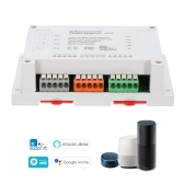 SONOFF 4CH ITEAD 4 Canais Din Rail Montagem WiFI Switch Universal Wireless Smart Switch Funciona com Amazon Alexa e para o Google Home / Nest Smart Home