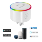 WiFi Smart Plug LED Indicator Voice Control for Amazon Alexa and for Google Home IFTTT (1 pack)