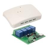 Interruptor sem fio de controle remoto de Sonoff 4ch DC 5VSmart com módulo universal de Shell