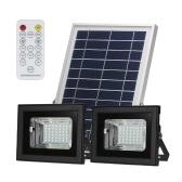 Solar-Doppelkopf-Flutlicht 42 SMD-LEDs mit Fernbedienung