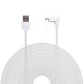 Cable de alimentación resistente a la intemperie Cable de 6 m / 20 pies de longitud, blanco