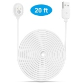 Power Cord for Arlo Ultra 4K UHD Magnetic Chanrging Cable Waterproof Charger Without Plug for Indoor and Outdoor Use 6M/9M 1pcs White