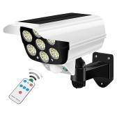 Светодиодные солнечные фонари Открытый датчик движения Поддельный свет камеры наблюдения