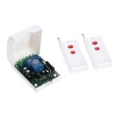 Smart Home 433 Mhz RF AC85V-250V Drahtloser Fernsteuerungsschalter + 2 * Fernbedienung 1527