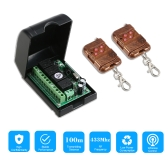 Smart Home 433Mhz RF 4CH Wireless Remote Control Switch +2*Remote Control 1527