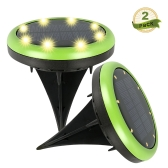 4PCS Solar Power LED Waterproof Spotlight