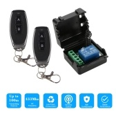 Smart Home 433Mhz DC 12V 1CH Wireless Remote Switch Relay Receiver Transmitter Universal Remote Control Switch Module and 2PCS RF Transmitter Remote Controls 1527