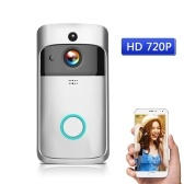 HD 720P WiFi Security Smart DoorBell with batteries Silver