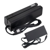 Lector de tarjetas magnéticas MSRE206 Escritor Codificador Deslizar Interfaz USB Negro