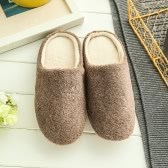 New Pure Color Soft Plain Slippers Pavimento em madeira antiderrapante Silent Mute Cotton Slippers Unisex Type