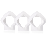 Wall Mount Bracket Stand Holder for Linksys Velop Tri-band Whole Home WiFi Mesh System, White 3 Pack