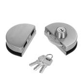 Fechadura da porta deslizante do impulso de vidro do balanço da porta 10-12mm da entrada com 3 chaves