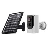 Câmera solar 1080p IP65 WiFi à prova de intempéries movimento câmera sem fio Monitoramento externo de máquina