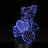 Creative 3D LED Illusion Colorful Table Night Light