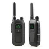 POFUNG T12 2PCS Mini Walkie Talkie 446.00625- 446.09375 MHz 16CH Tragbarer Handtransceiver Interphone VOX-Funktion LED-Taschenlampe Funkgerät
