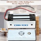 OWSOO 60KG 132lbs Haltekraft Elektromagnetverschluss für Türzutrittskontrollsystem-Elektro Fail-Safe-Modus NC